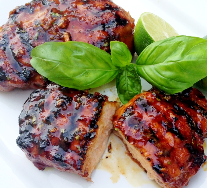 Grilled Pork Chops with Thai Honey Lime Marinade - I'm Bored, Let's G...