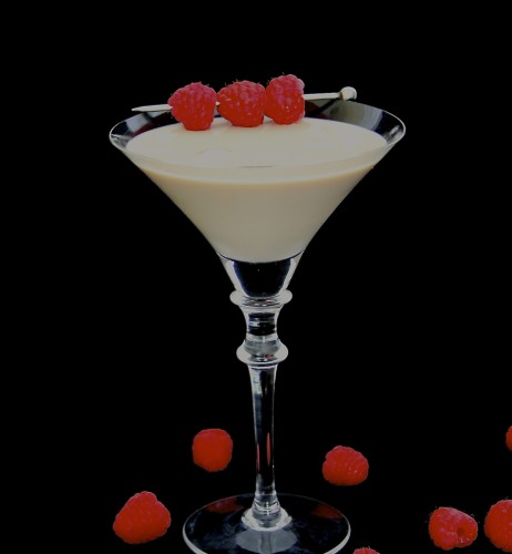 White Chocolate Raspberry Cheesecake Martini
