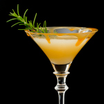 Caramelized Pear Martini w/rosemary simple syrup