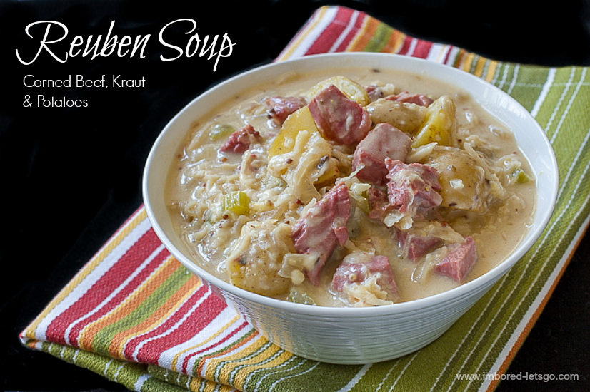 Reuben Soup has corned beef, sauerkraut and potatoes