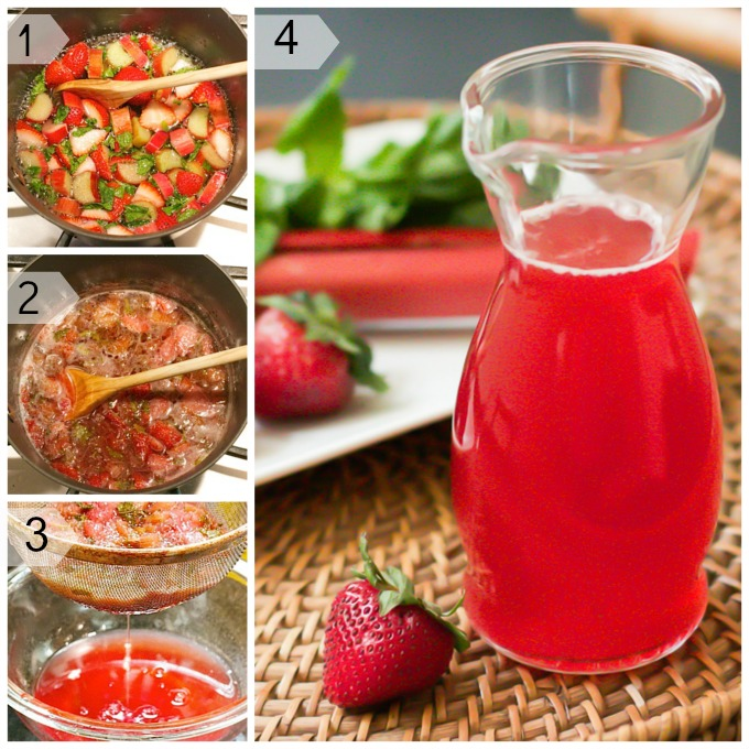 Strawberry Rhubarb Simple Syrup
