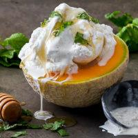 Cantaloupe with Ice Cream