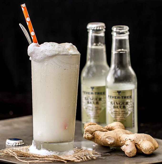 Ginger Beer Float with Vanilla Bourbon Ice Cream - I'm ...