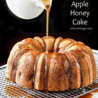 Apple Honey Cake with Honey Caramel Sauce