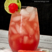 Watermelon Moscow Mule made with fresh Watermelon juice